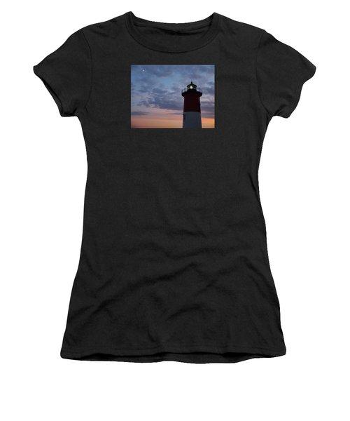 Nauset Light Lighthouse At Sunset Women's T-Shirt (Athletic Fit)