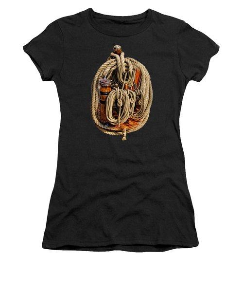 Nautical Knots 17 Oil Women's T-Shirt (Athletic Fit)