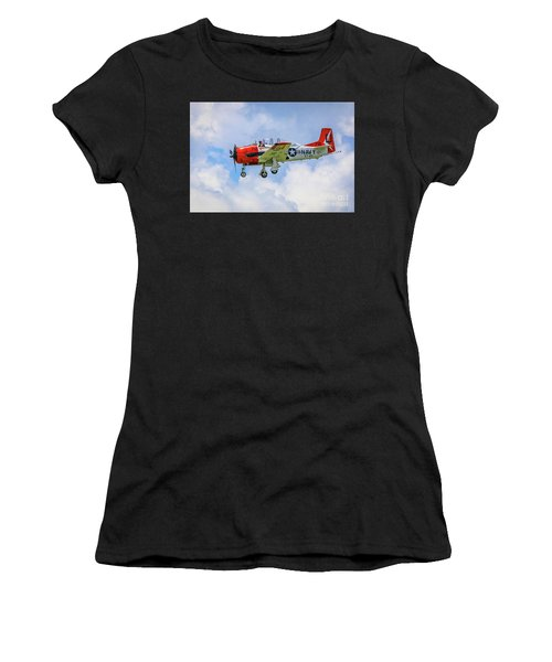 Women's T-Shirt featuring the photograph Navy Trainer #2 by Tom Claud