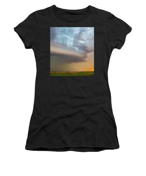 Nebraska Thunderstorm Eye Candy 006 Women's T-Shirt
