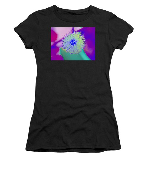 Neon Green Puff Explosion Women's T-Shirt (Athletic Fit)
