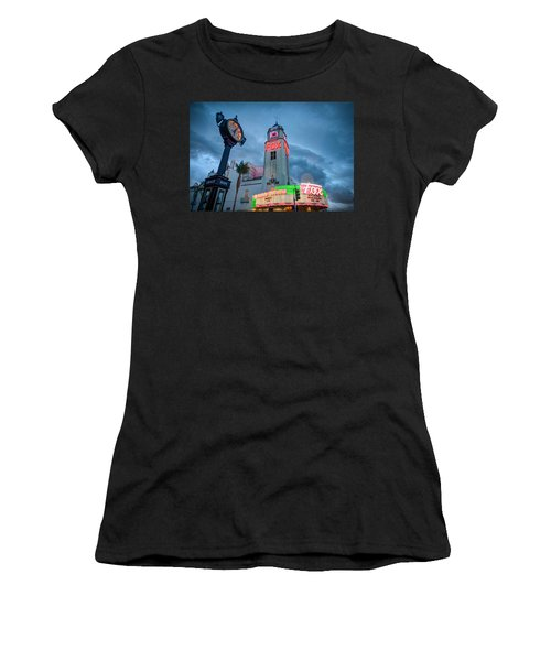 Neon Sign Rip Merle Haggard Women's T-Shirt (Athletic Fit)