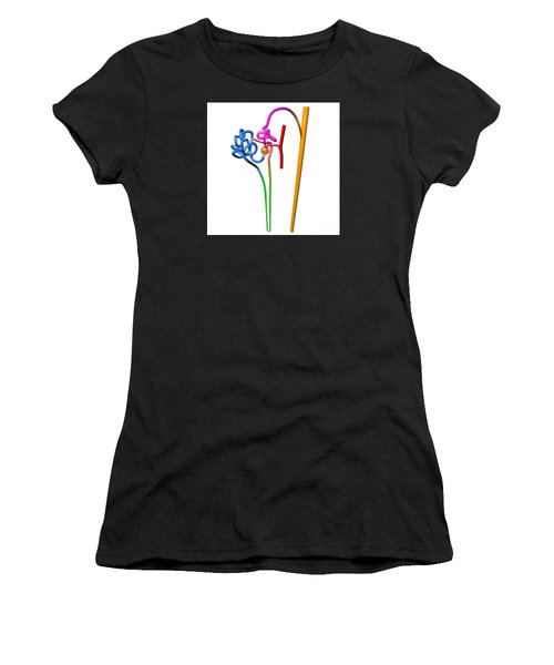 Women's T-Shirt (Athletic Fit) featuring the digital art Nephron White by Russell Kightley