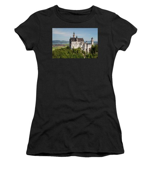 Neuschwanstein Castle With Village Women's T-Shirt