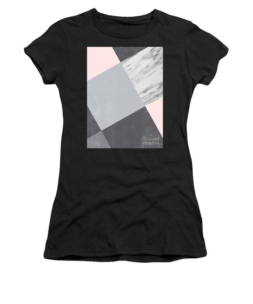 Neutral Collage With Marble Women's T-Shirt