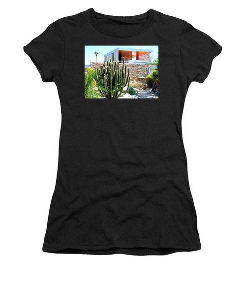 Neutra's Kaufman House 2 Women's T-Shirt (Junior Cut) by Randall Weidner