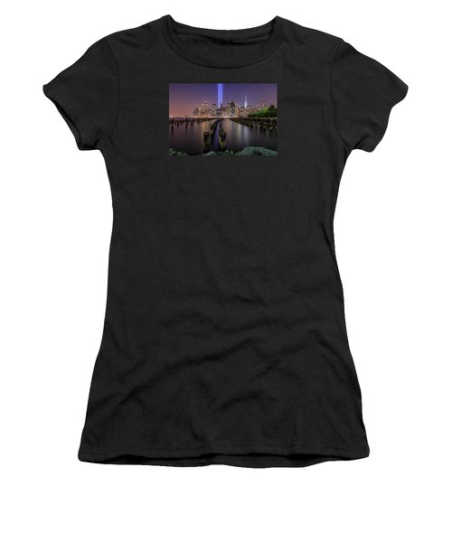 Women's T-Shirt (Junior Cut) featuring the photograph Never 4 Get  by Anthony Fields