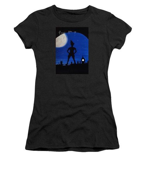 Never Grow Up Women's T-Shirt (Junior Cut) by Annie Walczyk