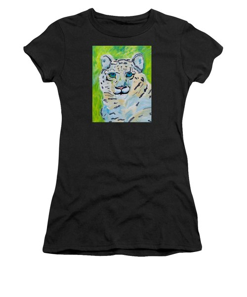 Eyes On You Snow Leopard Women's T-Shirt (Athletic Fit)