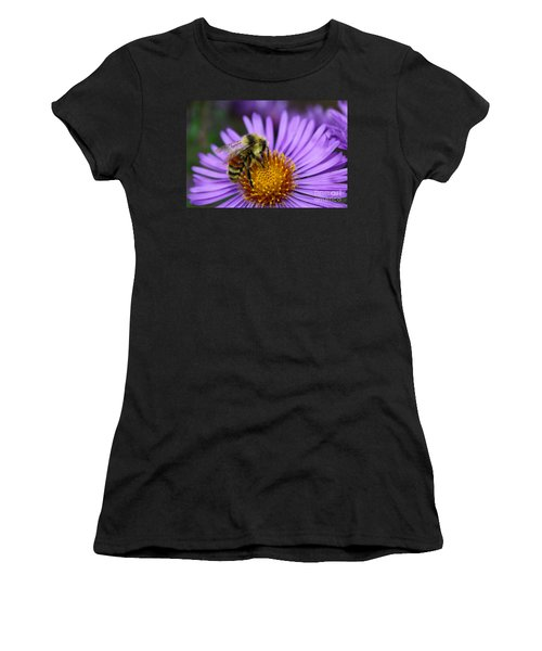New England Aster And Bee Women's T-Shirt (Athletic Fit)
