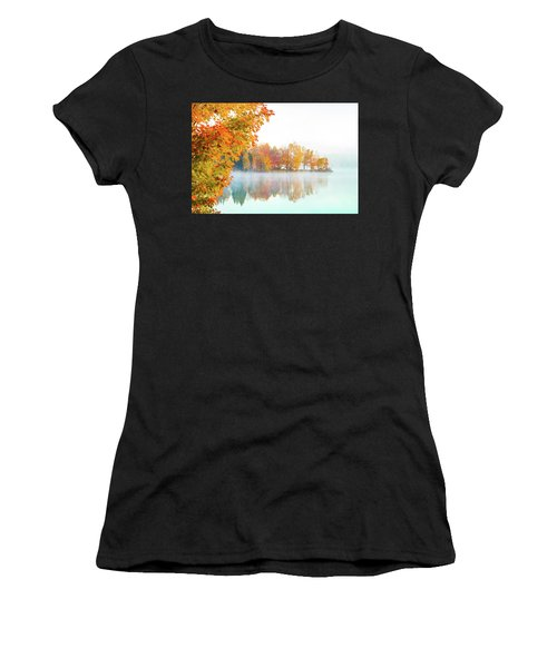 Women's T-Shirt featuring the photograph New England Fall Colors Of Maine by Jeff Folger