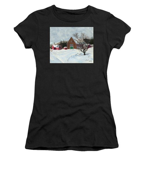 New Hampshire Farm In Winter Women's T-Shirt