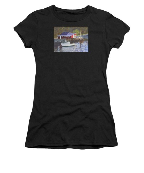 New Harbor Sunrise Women's T-Shirt (Athletic Fit)