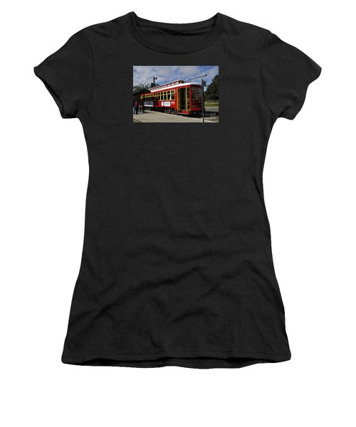 New Orleans Street Car Women's T-Shirt (Athletic Fit)