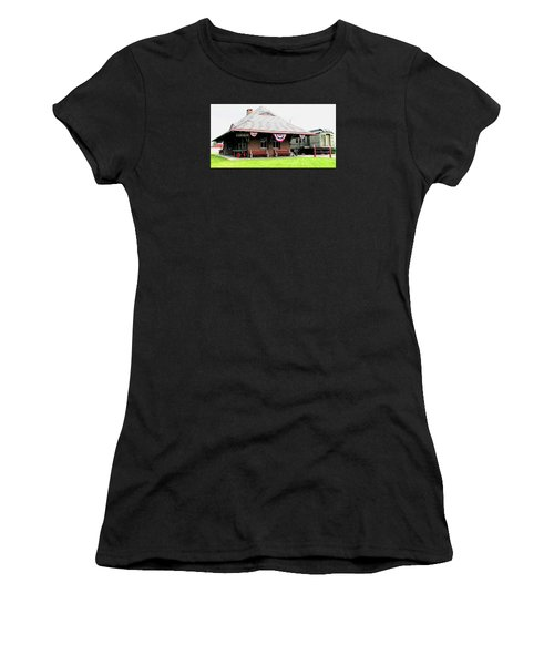 New Oxford Pennsylvania Train Station Women's T-Shirt (Athletic Fit)