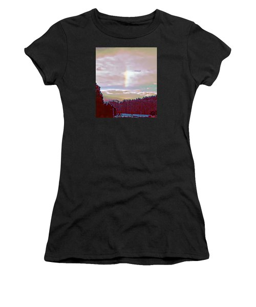 New Year's Dawning Fire Rainbow Women's T-Shirt (Athletic Fit)