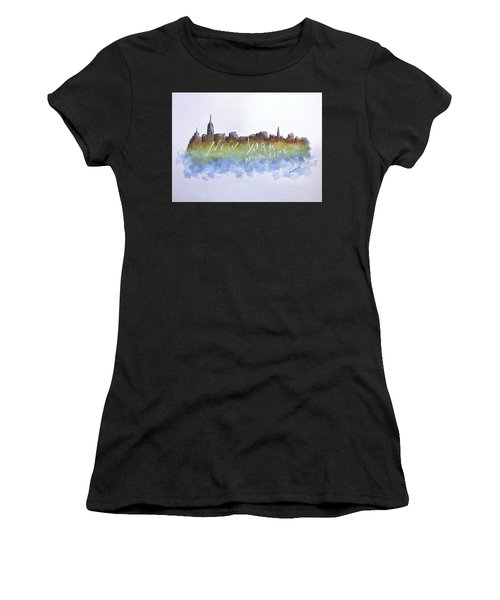 New York After Time Women's T-Shirt (Athletic Fit)