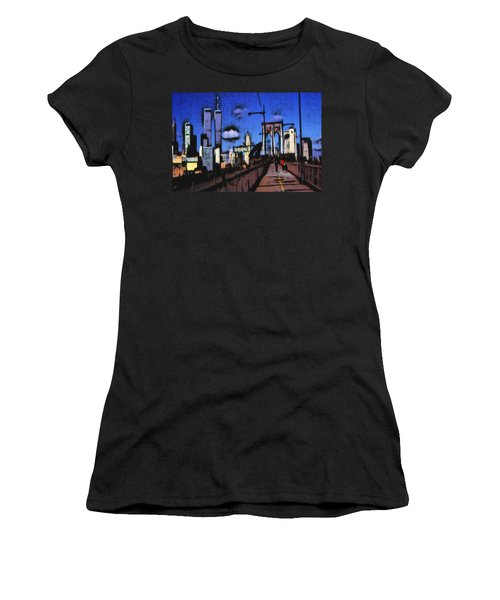 New York Blue - Modern Art Painting Women's T-Shirt