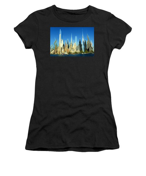 New York City Skyline 2100 - Modern Artwork Women's T-Shirt