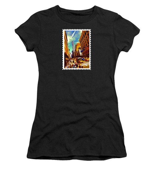 New York City Hustle Women's T-Shirt (Junior Cut) by Elaine Plesser