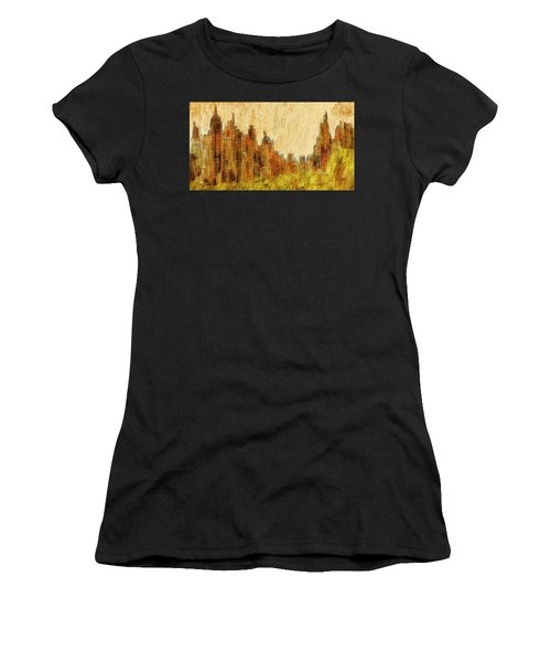 New York City In The Fall Women's T-Shirt (Athletic Fit)