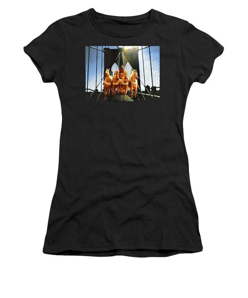 New York Brooklyn Bridge Fantasy Collage Women's T-Shirt