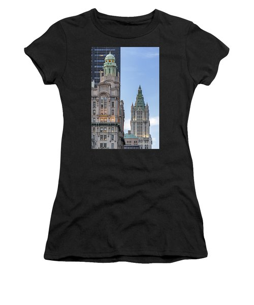 Women's T-Shirt featuring the photograph New York Woolworth Building  by Juergen Held