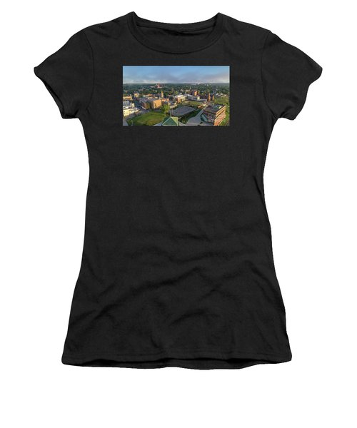 Newburgh New York At Sunrise Women's T-Shirt (Athletic Fit)