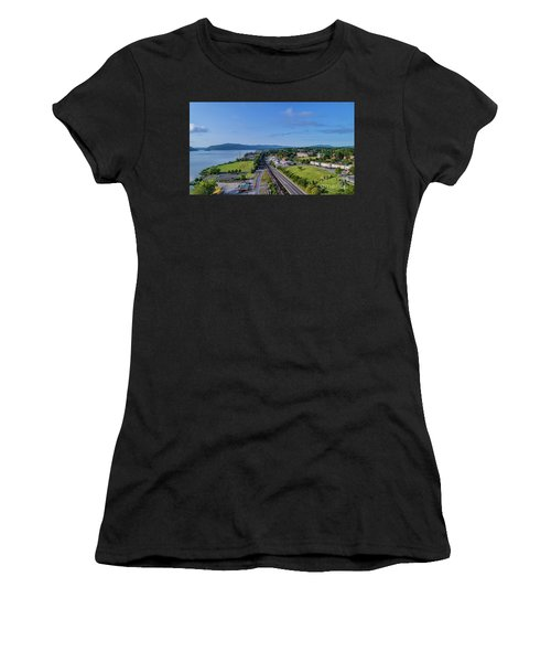Newburgh Waterfront Looking South 4 Women's T-Shirt (Athletic Fit)