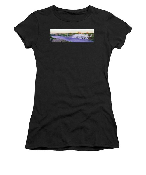 Niagara Falls At Dusk Women's T-Shirt (Athletic Fit)