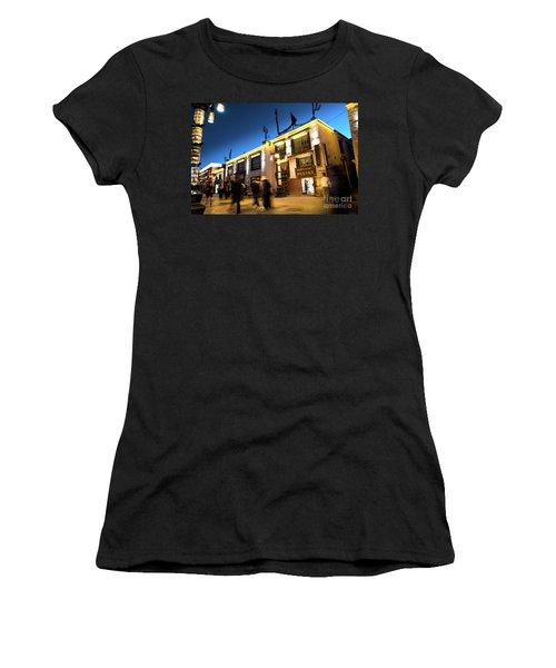 Night At Jokhang Temple Lhasa Kora Tibet Artmif.lv Women's T-Shirt