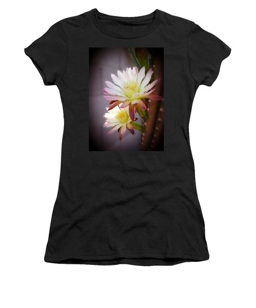 Women's T-Shirt (Junior Cut) featuring the photograph Night Blooming Cereus by Marilyn Smith