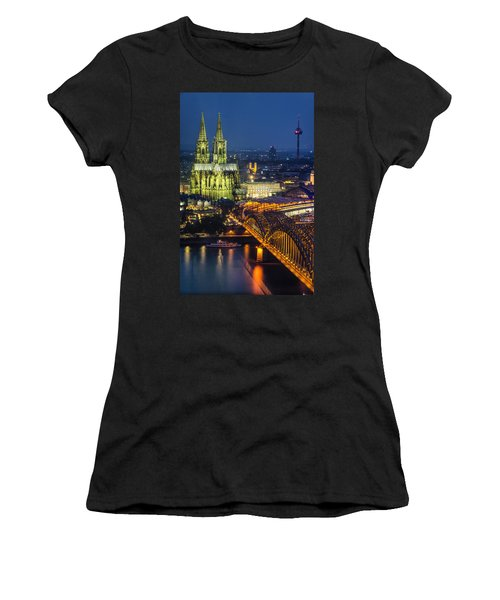 Night Falls Upon Cologne 1 Women's T-Shirt (Athletic Fit)
