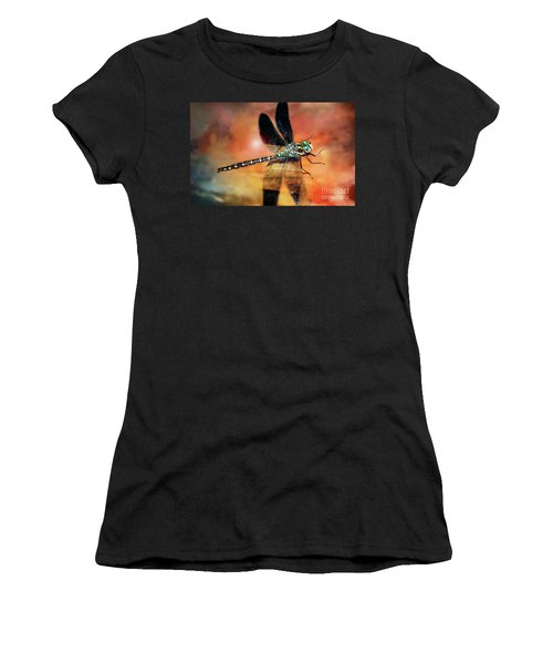 Night Light Of The Dragonfly Women's T-Shirt (Athletic Fit)
