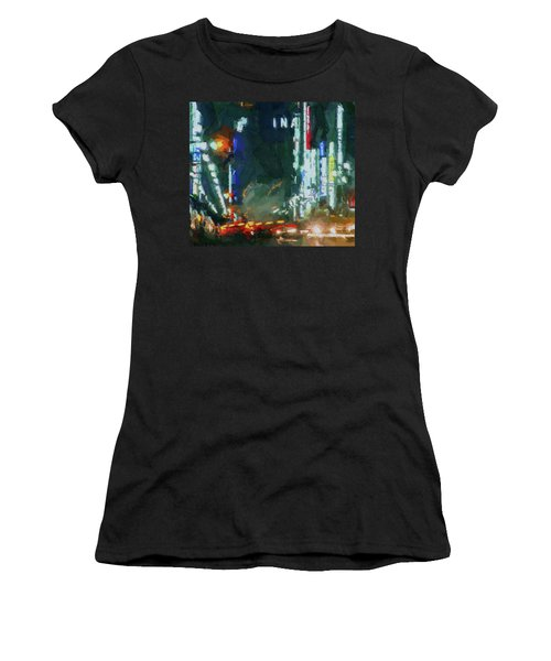 Night Lights City Women's T-Shirt
