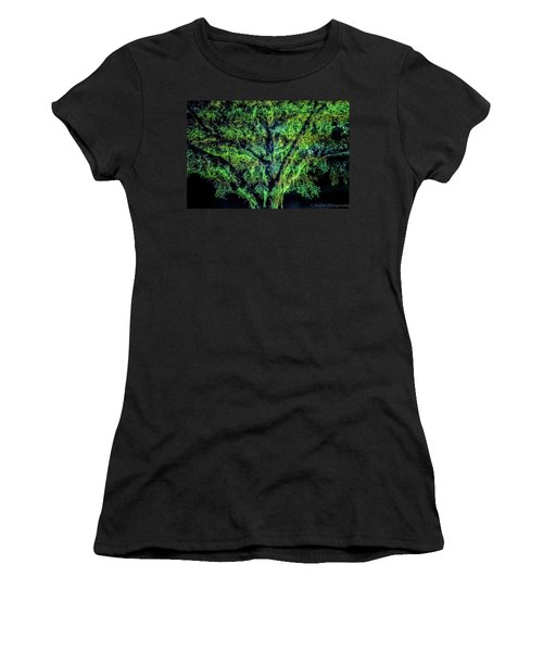 Night Moss Women's T-Shirt (Athletic Fit)