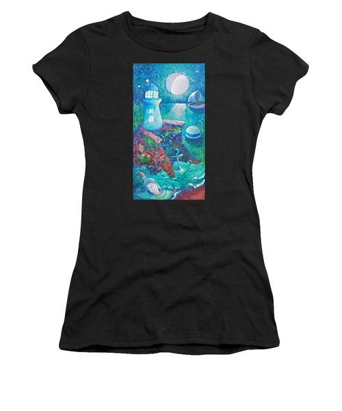 Night Out At Sea Women's T-Shirt (Athletic Fit)