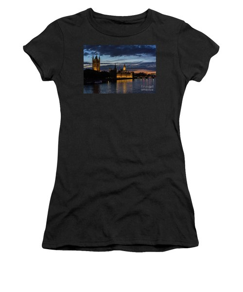 Night Parliament And Big Ben Women's T-Shirt (Athletic Fit)