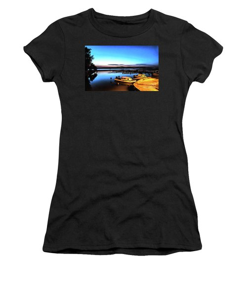 Night Port Painting Women's T-Shirt (Athletic Fit)