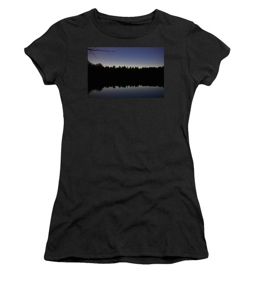 Night Reflects On The Pond Women's T-Shirt
