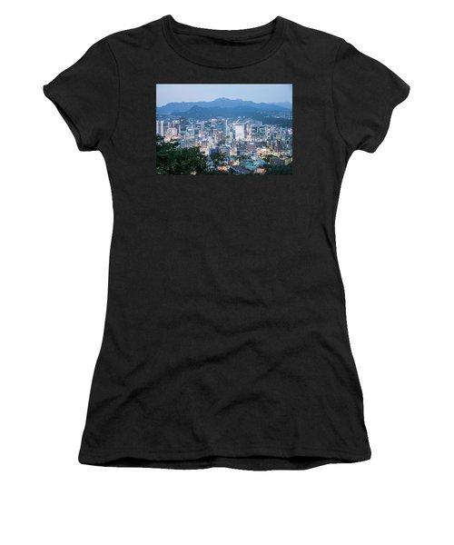 night scene in Seoul Women's T-Shirt