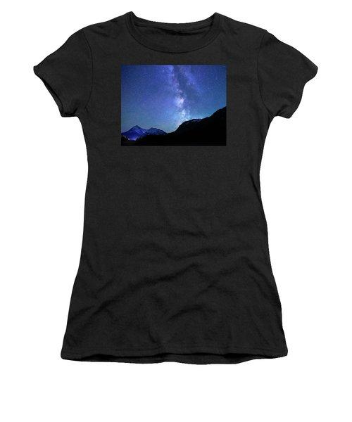 Women's T-Shirt (Junior Cut) featuring the photograph Night Sky In David Thomson Country by Dan Jurak