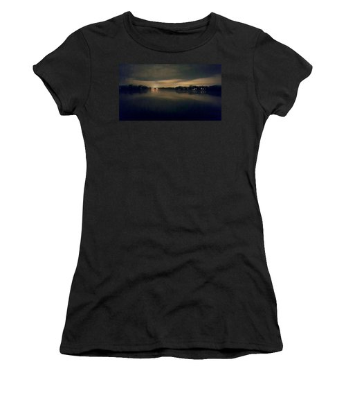 Night Sky Over Lake With Clouds Women's T-Shirt