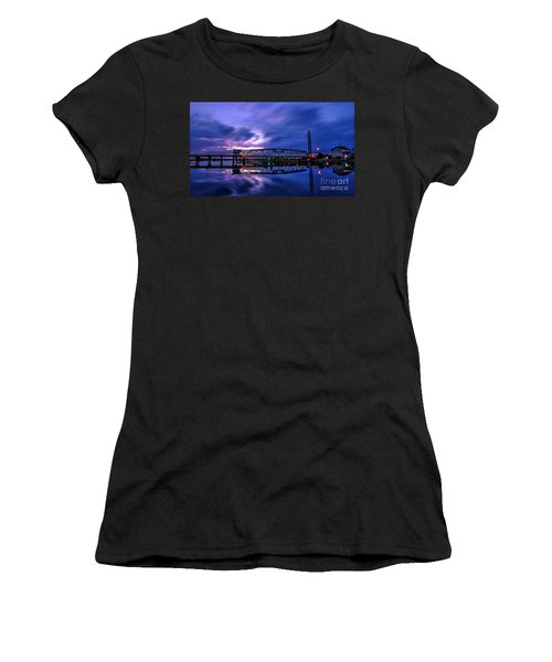 Night Swing Bridge Women's T-Shirt (Athletic Fit)