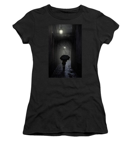 Night Walk In The Rain Women's T-Shirt