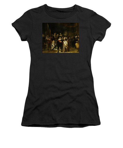Night Watch, 1642 Women's T-Shirt (Athletic Fit)