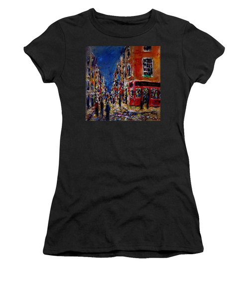 Nightlife, Temple Bar Dublin  Women's T-Shirt (Athletic Fit)