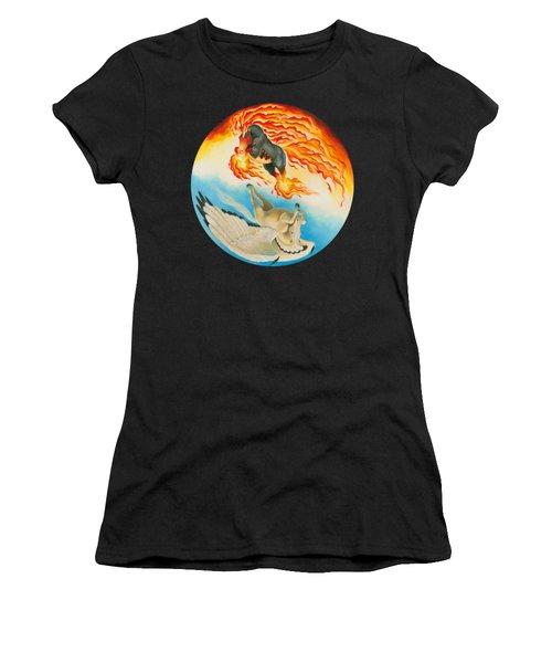 Nightmare And Mesa Pegasus Yin Yang Women's T-Shirt (Athletic Fit)