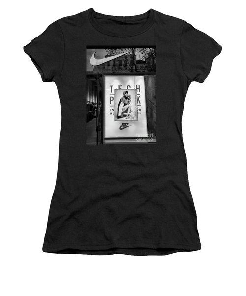 Nike Display Street Photo Black Retail Store  Women's T-Shirt (Athletic Fit)