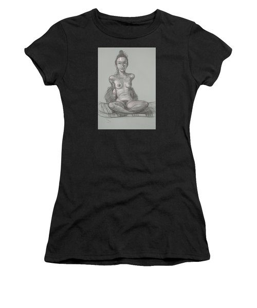 Nina Seated Women's T-Shirt (Athletic Fit)